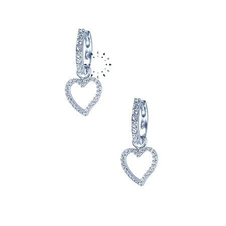 Σκουλαρίκια 14K Λευκόχρυσο με Ζιργκόν FaCaDoro 239€  http://www.kosmima.gr/index.php?manufacturers_id=10
