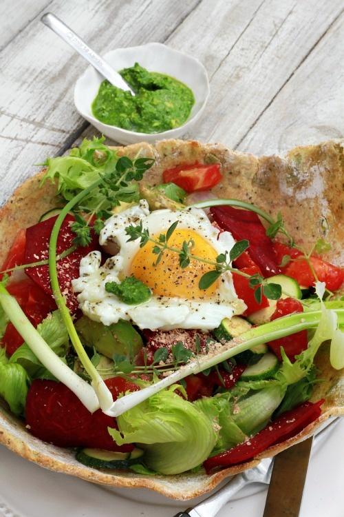Les Cuisines de Garance: Ma salade du Cabanon au Pesto de pousses d'épinards et…