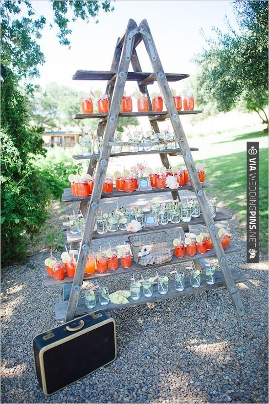 wedding drink ideas. greet your guests with a cold drink. (: | CHECK OUT MORE IDEAS AT WEDDINGPINS.NET | #weddingfood #weddingdrinks