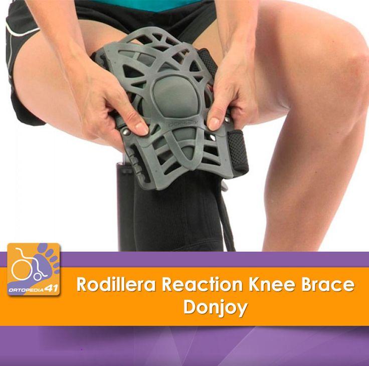 La rodillera Reaction Knee Brace es la respuesta activa y efectiva que la firma Donjoy, nos propone para los problemas de la parte anterior de la rodilla: #condromalacia o #condropatía #rotuliana, #artrosis, #tendinopatía rotuliana o cuadricipital, etc.