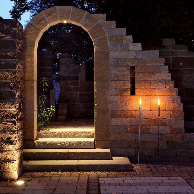 SANTURO Bogen/SANTURO Burgruine/Mauern/Haus und Garten—Braun Steine