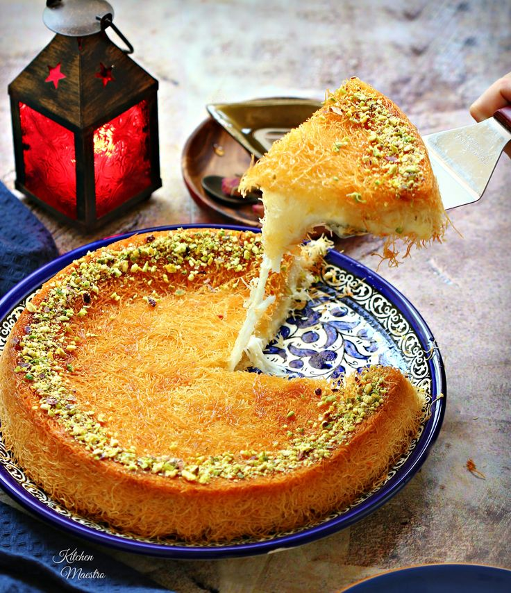 Kunafa (Middle eastern dessert) Today's recipe is a traditional dessert that I grew up eating it,one of my favorite middle eastern sweets, a well known and very famous in Arabic world. Kunafa is the kind of treat that you can pamper your self with! The most loved, the most celebrated. It comes with various fillings and shapes. The more creative , the more delicious Kunafa you can get! :)