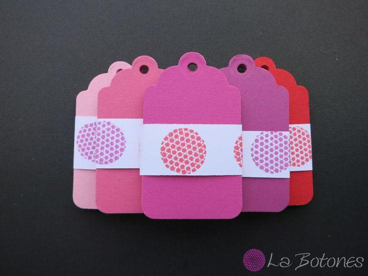 25 Preisetiketten Geschenkanhänger Tag rosa von La Botones auf DaWanda.com