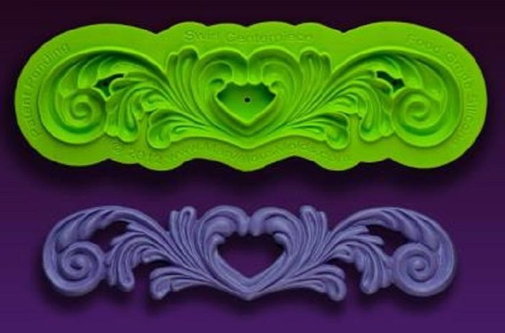 Marvelous Molds silicone scroll mold -Swirl Centerpiece- fondant gum paste  #MarvelousMolds