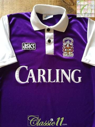 251391773f1b Official Asics Stoke City away football shirt from the 1993 94 season.