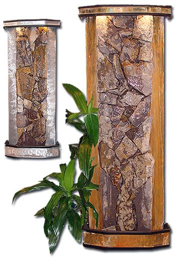 Decorative Indoor Rock Walls : Indoor waterfall portable river rock