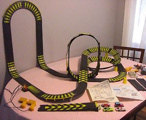 tyco zero gravity cliff hangers slot car track 1987
