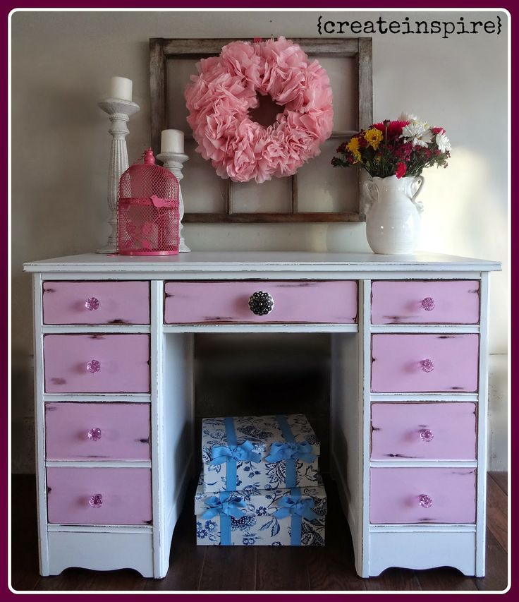 {createinspire}: Antique Cherry Desk Redo