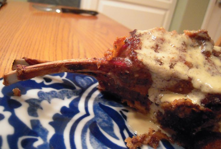 Dijon Encrusted Rack of Lamb with Gorgonzola Sauce