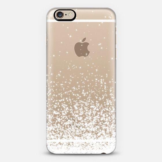 White Sparkles Transparent  - Classic Snap Case