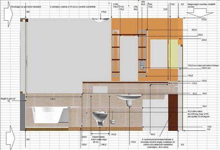 A lakótelepi fürdőszoba felújítás műszaki leírása és burkolatkiosztási terve