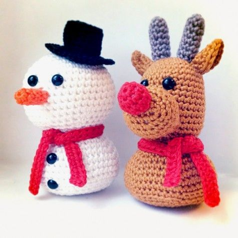 Free Knit Amigurumi Patterns : 534 best AMIGURUMI XMAS images on Pinterest Crochet christmas, Crochet toys...