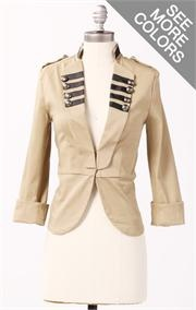 Downeast military inspired jacket.