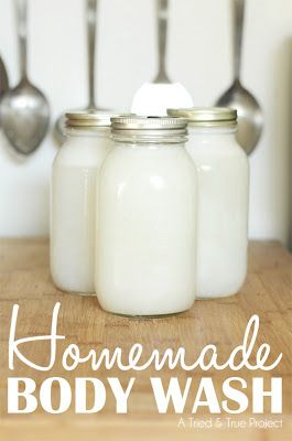 Easy Homesteading: Homemade Body Wash- *Materials: - pure Castile soap bar, grated (I like Dr. Bronner's Almond) - 12 cups water - 2 tbsp glycerin *Instructions: 1. Bring the water to a soft simmer, add the soap and stir until completely melted. 2. Turn off heat and add glycerin. 3. Cover and allow to set for 24 hours.