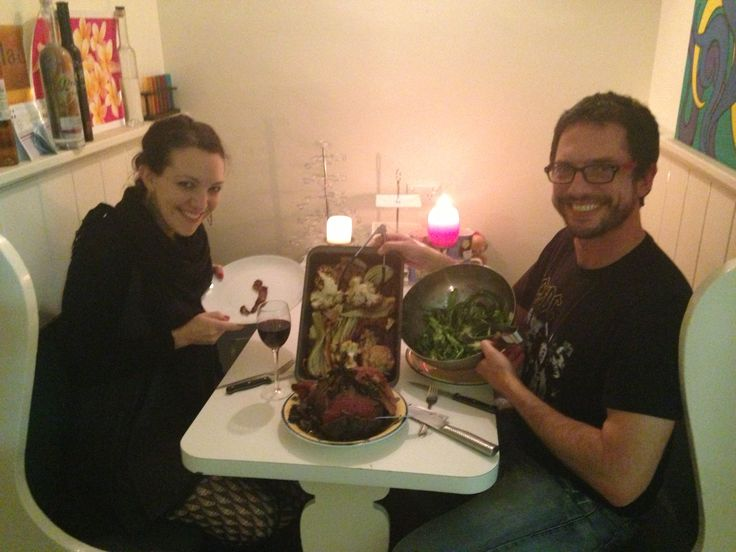 A booth. In a house. With meat! And James! A beautiful friend and supporter!