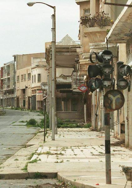 Varosha, Cyprus. - Abandoned since 1974 due to the Turkish invasion of Northern Cyprus.