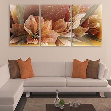 e-home® τεντωμένο καμβά τέχνης λουλούδι σετ ζωγραφικής διακόσμησης 3 – EUR € 77.99