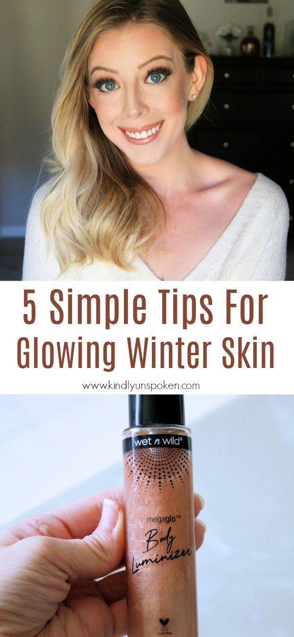 Küssen Sie trockene Winterhaut auf Wiedersehen mit diesen 5 einfachen Tipps, um strahlende Haut zu bekommen! Kopf …   – Skincare Tips