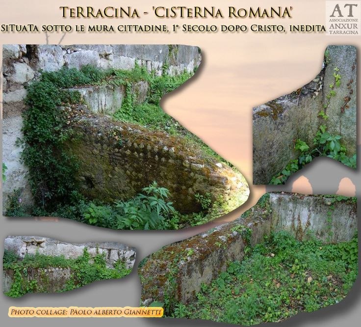 Roman Cistern. First century AD. Located under the city walls of Terracina.  Cisterna Romana del Primo secolo d.C.  Si trova sotto le mura cittadine. Bibliografia: inedita