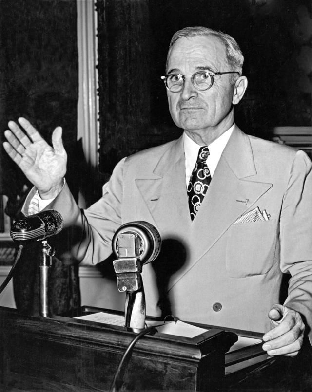 Harry S. Truman shown here