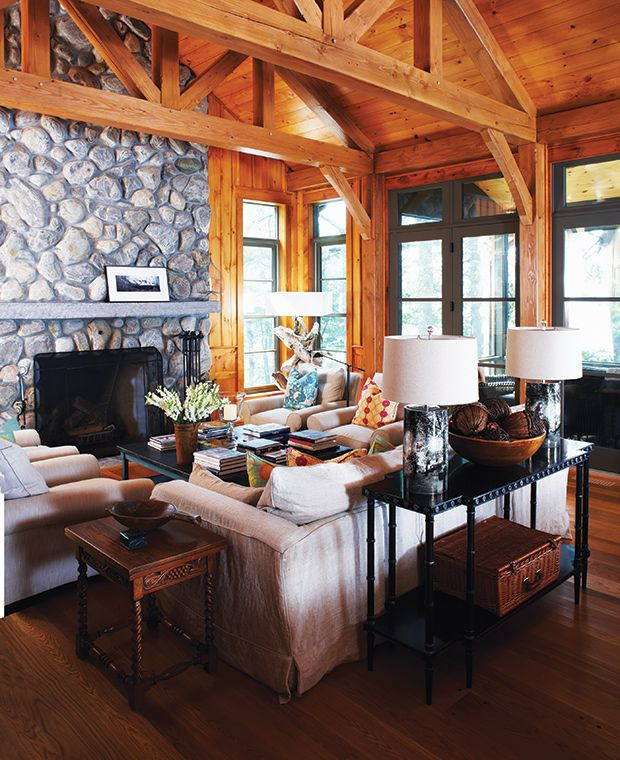 """WhenDon Tapscott, an entrepreneur and bestselling author on business technology, and Ana Lopes, a corporate director and social entrepreneur, first stepped into this romantic 1952 lodge, it was as if time had stood still.""""It felt like the quintessential Adirondack cottage from the '50s — lots of pine, taxidermy, laminates, plywood, turquoise bathroom tiles, a river-rock …"""