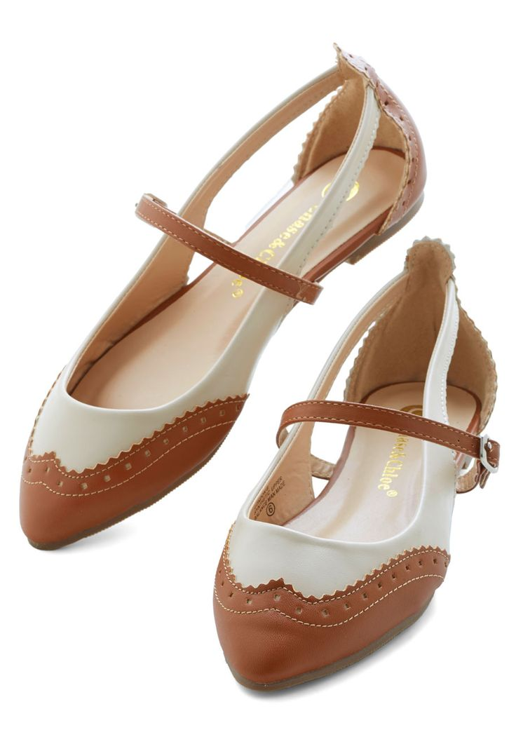 Tappy and You Know It Flat in Brown | Mod Retro Vintage Flats | ModCloth.com