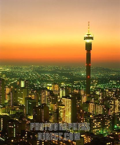 Johannesburg at dusk
