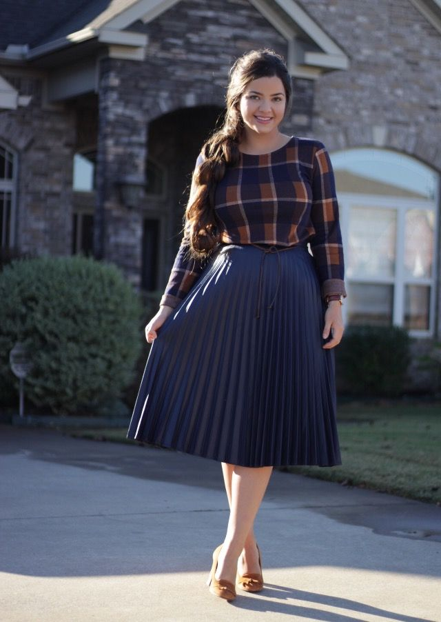 Both our Lexi Pleated Skirt and Julia Plaid Top will be available soon.  Link in bio