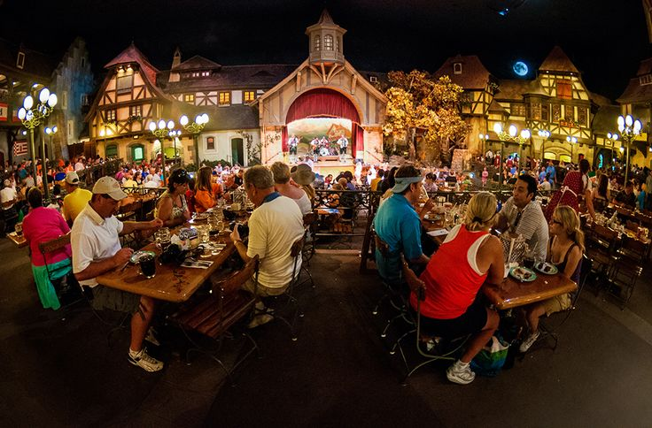 Biergarten is a buffet restaurant in Epcot's World Showcase Germany at Walt Disney World that is set in the middle of a Bavarian Village celebrating Oktobe
