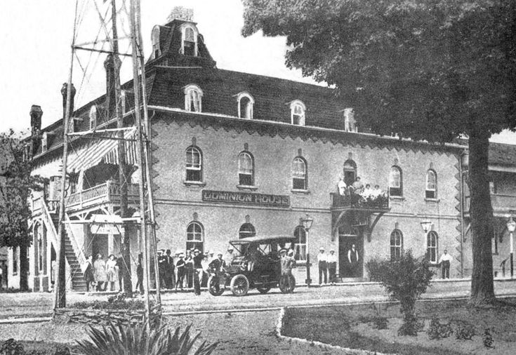 Dominion Hotel, Port Dover, corner of Market and Main St., 1909. The building  still stands today. http://www.escapetodover.com/photo-gallery-then-page-3.htm