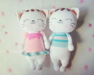 Ami-Domi Land: вяжем амигуруми: Милые котики