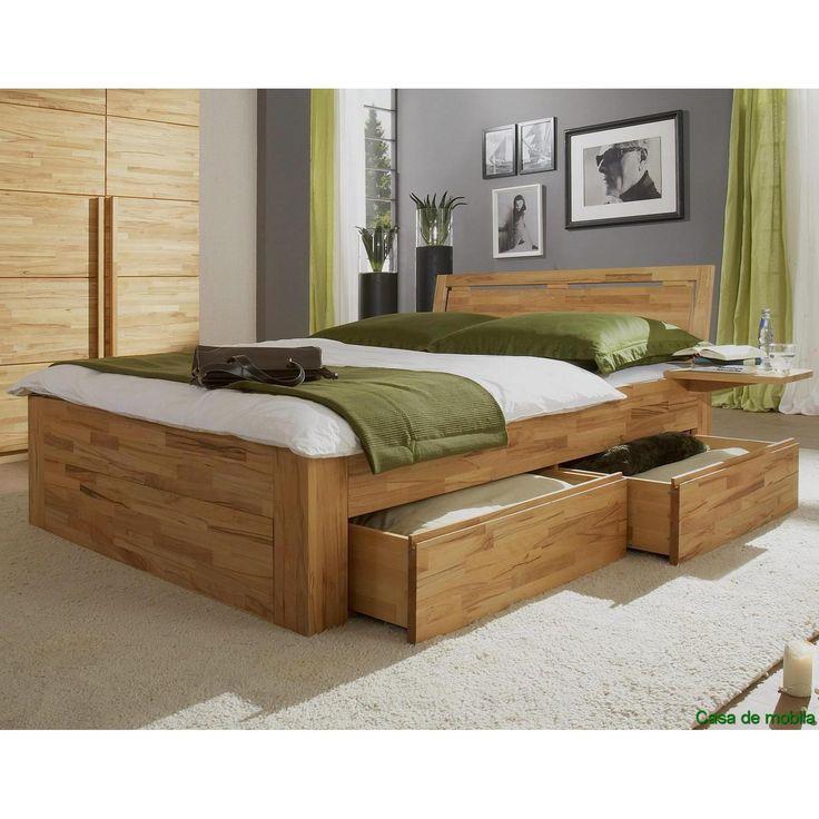 Genial Bett 200x200 Holz Massiv