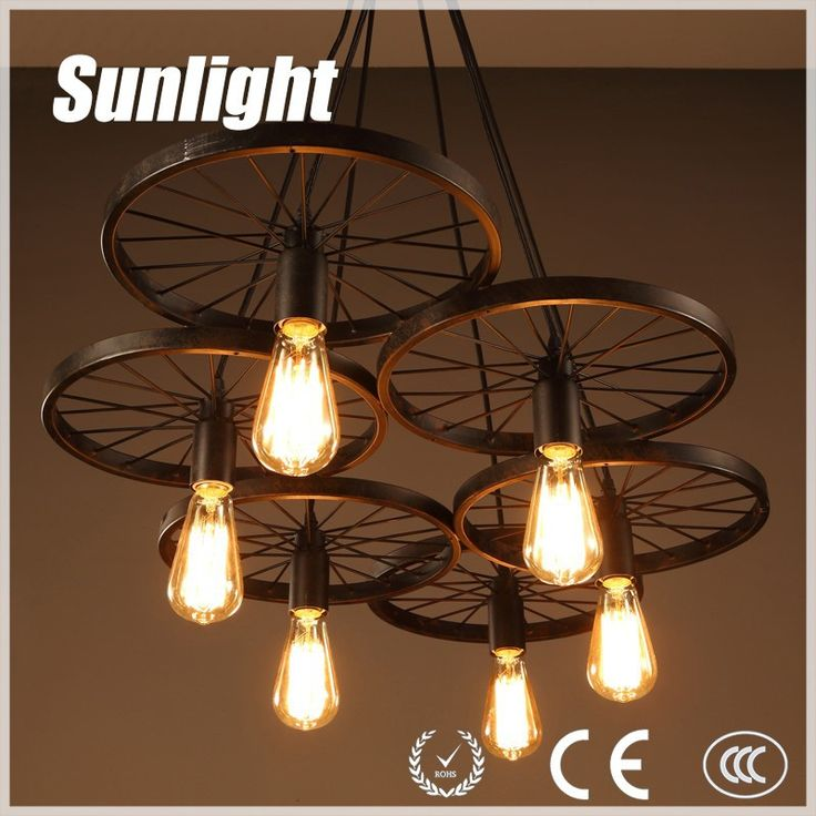 loft industrial light wheel pendant lamp for pub designer industrial