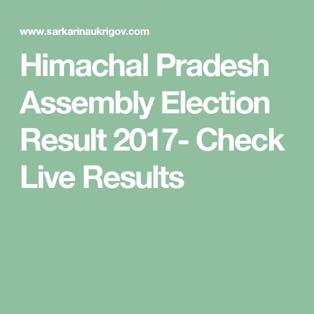 Himachal Pradesh Assembly Election Result 2017- Check Live Results