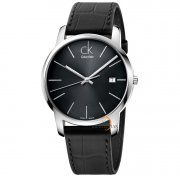 Black Leather CK watches