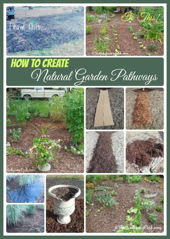 HOw to create Natural Garden Pathways that Keep the Weeds away. thegardeningcook.com/natural-paths-garden-beds