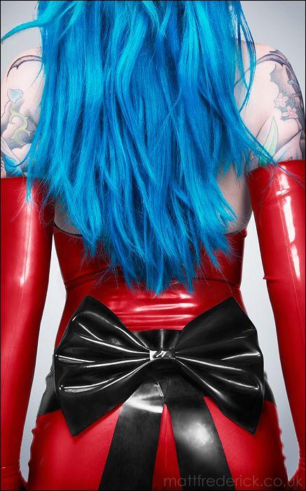 Blue #Hair, #Blue, #tattoos, #red, #Women, #fetishJanedoelatex Bows, Bows Belts, Bluehair, Jane Does, Hair Tattoo, Blue Hair, Nina Kate, Does Latex, Big Bows
