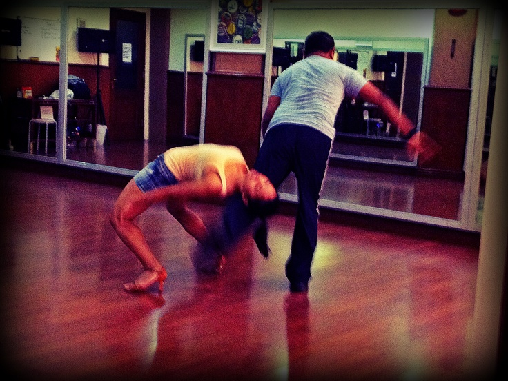 Trying new figures and positions for a big upcoming performance -- #salsa #dancing #progress