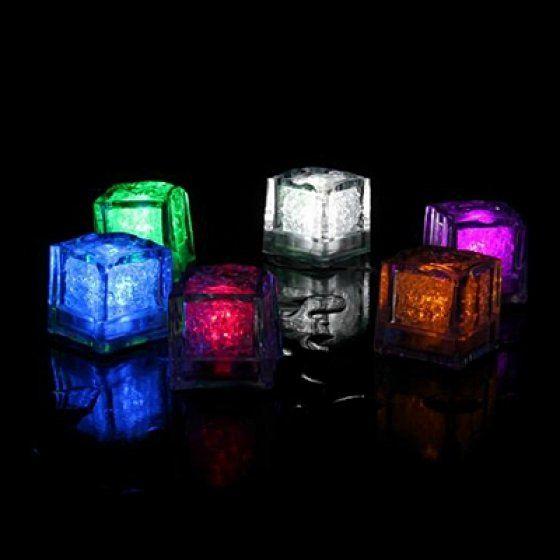 Világító jégkocka - 6 db - vegyes színű
