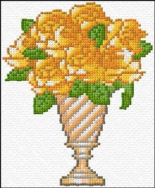 yellow roses free cross stitch