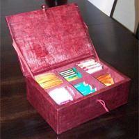 Boîte à thé en carton Tuto cartonnage - Loisirs créatifs
