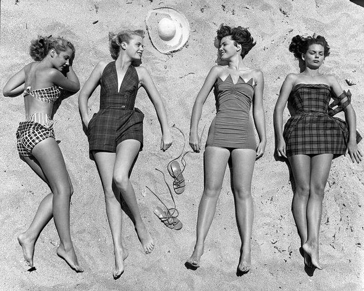Пляжная мода во Флориде 1950 год.