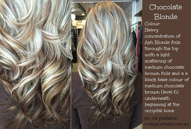 Pretty ash blonde with chocolate brown