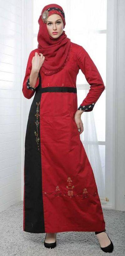 Baju Couple Terbaru Azka Heritage 59 Merah | Warung Muslimah