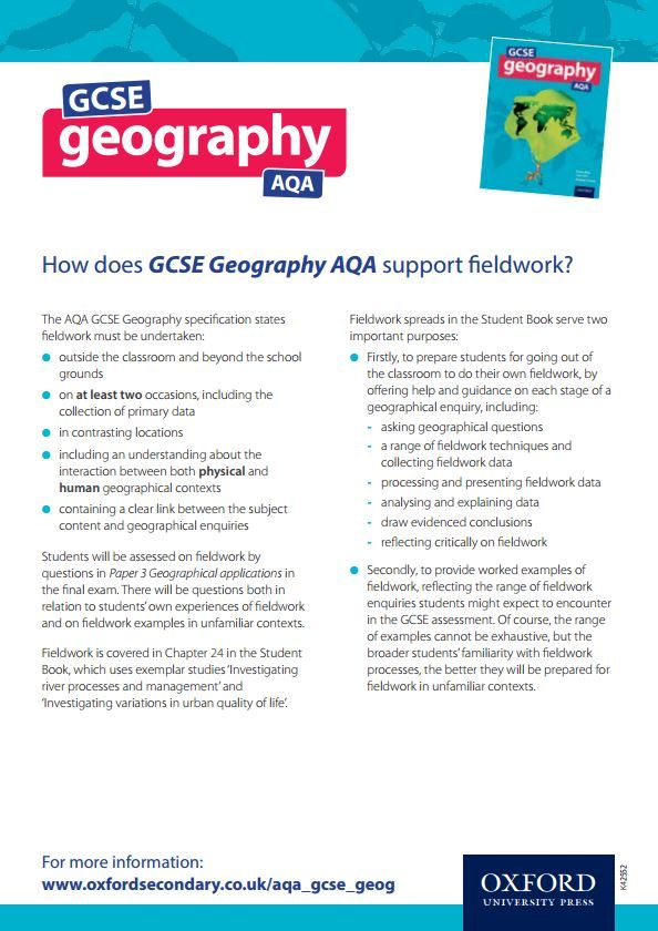 gcse geography ocr b coursework Teach the reformed gcse (9-1) geography b qualification available in england for first teaching from 2016.