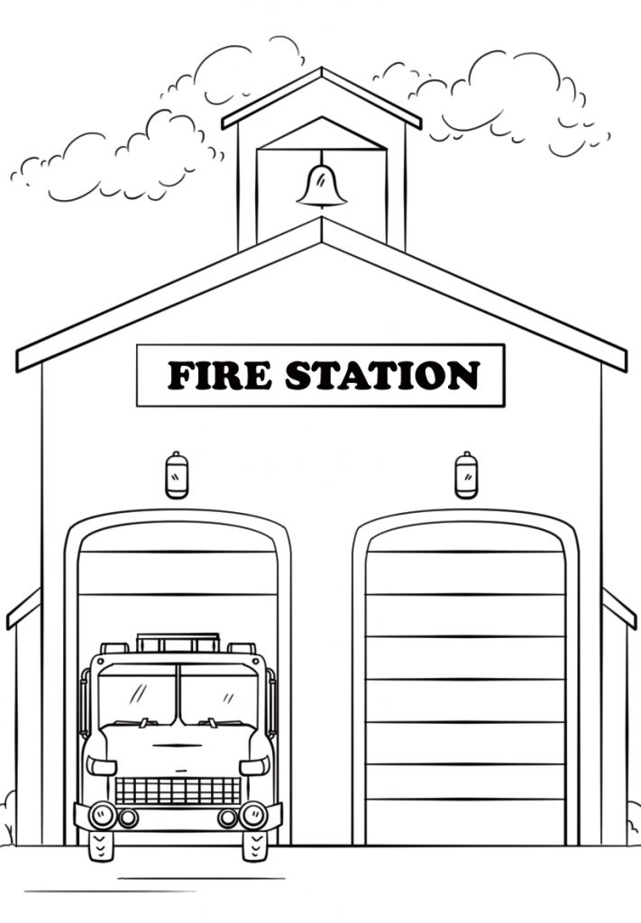 Fire Coloring Pages | Coloring pages for kids, Fire truck ...