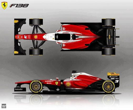 Here Is My Livery For The Ferrari Used A Darker Red Compared To The Actual  Car And The Black Is Inspired From The Ferrari 126 And The White Is.