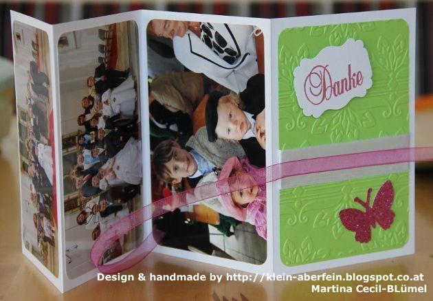 Dankeskarte Kommunion oder Konfirmation Leporello von Klein, aber fein auf DaWanda.com