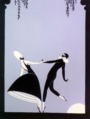 Pas de Deux  by Erte  Media : Graphic Edition, Embossed Serigraph  Dimensions : 27 1/2 X 22 Inches  Year Produced : 1986