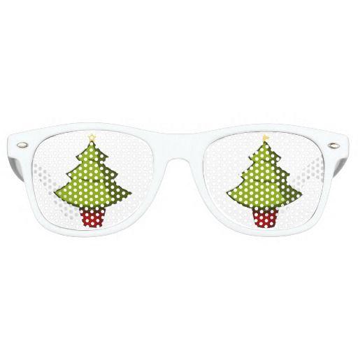 Cute Christmas Tree Party Sunglasses